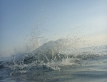 20120628 splash in Cinque Terra Venazza