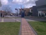 UniSA Looking Towards Mawson Lakes Shops and Pub